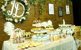 rustic sweet corner decoration for wedding free cupcakes