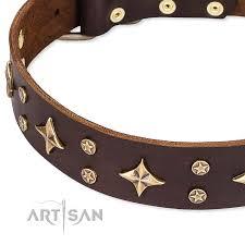 Comfortable Dog Collars High Fashion U0027 Fdt Artisan Embellished Brown Leather Cane Corso