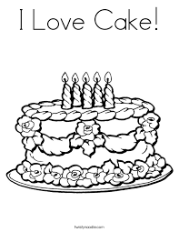 happy birthday cake coloring pages printable printable of cake