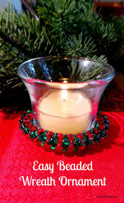 easy beaded wreath ornament simple christmas crafts simple