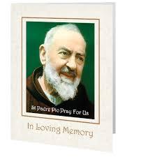 memorial card card padre pio