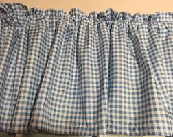 Blue Gingham Shower Curtain Gingham Curtains Etsy
