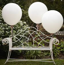 large white balloons pack of three party balloons by notonthehighstreet