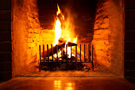 christmas fireplace burning with music design and ideas idolza