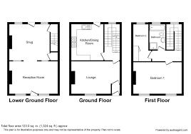 100 terraced house floor plan 3 bedroom mid terraced house
