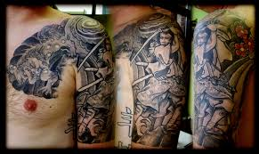 inspirational japanese half sleeve tattoo design for boys picsmine