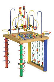 wooden activity table for young childrens wooden activity play table amazon co uk toys games