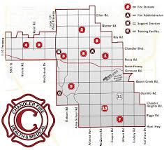 map of chandler az station map