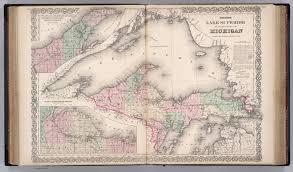 Upper Michigan Map Lake Superior And Upper Peninsula Of Michigan David Rumsey