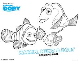 animations a 2 z coloring pages of finding dory