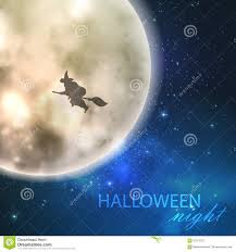 background of halloween halloween background with witch flying in the sky stock vector
