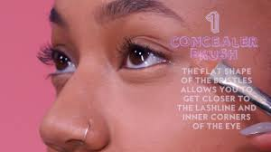 How To Shape Eyebrows With Concealer How To Apply Under Eye Concealer Essence Com