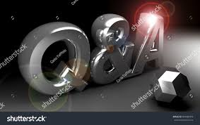 questions answers 3d rendering stock illustration 684480478