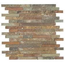 Slate Backsplash In Kitchen by Modern Kitchen With Copper Color Slate Kitchen Backsplash Tile