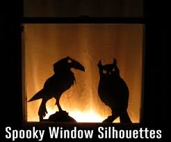 spooky window silhouettes with follow me eyes 12 steps with