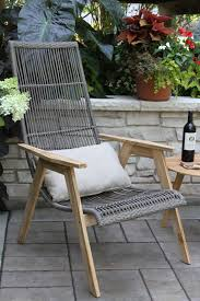 teak hardwood u0026 wicker basket loungers 2pk