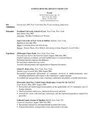 resume template for recent college graduate new graduate resume