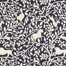 navy blue animal upholstery fabric fabric with lions blue