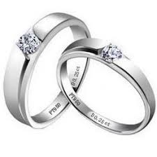korean wedding rings creative couples rings 925 sterling silver white gold plated