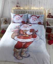 Indie Bedding Sets Father Christmas Quilt Duvet Cover Bedding Bed Set Santa Claus
