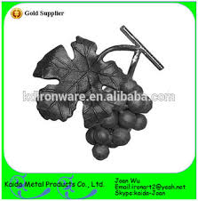 wrought iron ornaments grape with leaf for fences panels