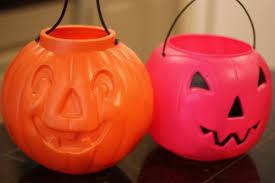 plastic pumpkins fall front porch fluff sprayed gold pumpkin buckets