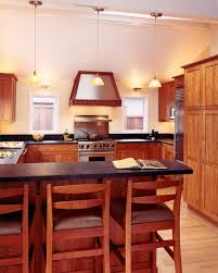 Cherry Cabinet Kitchen Light Cherry Cabinets Kitchen Contemporary With Ceiling Lighting
