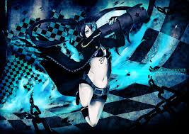 black rock shooter black rock shooter by geddykay anime manga anime pinterest