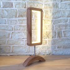 Light Wood Desk Hand Crafted Designer Table Lamp Wooden Desk Light Unusual Modern