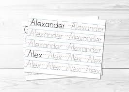 preschool lined writing paper name tracing pages learn to write tracing sheets lined zoom