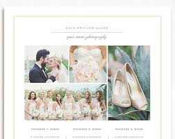 wedding photographer prices wedding photographer price list price menu template