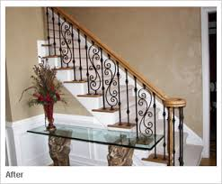 Metal Banister Spindles Stair Railings After Makover Banisters Varnishes And Espresso