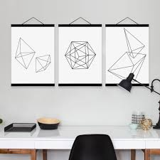 aliexpress com buy minimalist black white geometric shape wooden