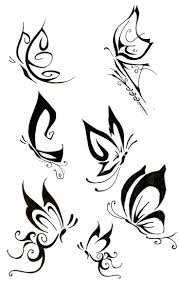 collection of 25 black butterfly designs