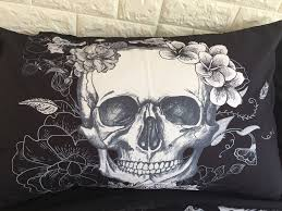 aliexpress com buy cilected 3d skull bedding sets black and