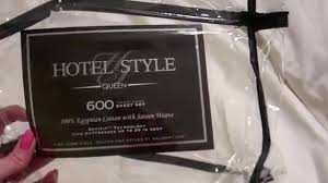 Hotel Sheets 1000 Thread Count Hotel Style 600 Thread Count Queen Sheet Review Youtube