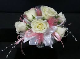 White Wrist Corsage Memorial City Florist Teleflora Florist Houston Flower