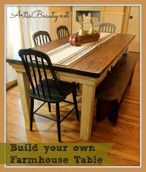 farmhouse kitchen table plans trends also diy dining plansburst of