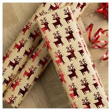 kraft christmas wrapping paper buy tesco kraft reindeer christmas wrapping paper 3m from our
