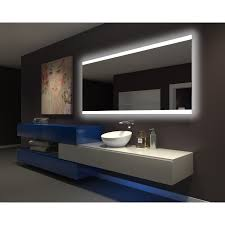 ib mirror dimmable backlit bathroom mirror paris 80 in x 35 in