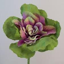 artificial ornamental cabbage purple green stem artificial