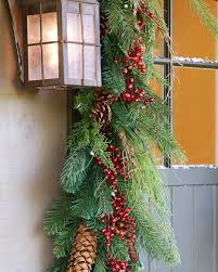 Outdoor Christmas Garland by Draping Pine Foliage Balsam Hill