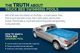 build a volvo truck no swimming why turning your truck bed into a pool is a terrible