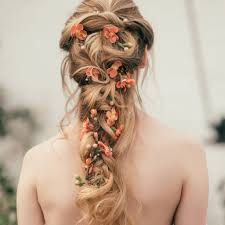 flower hair rapunzel flower hair vine mrs wedding hair