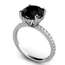 Black Wedding Rings For Her by Prominent Black Diamond Engagement Rings For Her Tags Engagement