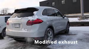 Porsche Cayenne Modified - porsche cayenne s modified exhaust before after youtube