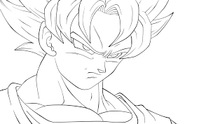 tracing bardock colouring pages dragon ball coloring
