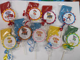 personalized favors 12 nick jr paw patrol theme 5th birthday party favors personalized