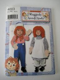Raggedy Ann Andy Halloween Costumes Adults Simplicity Sewing Pattern 4003 Raggedy Ann Andy Costumes