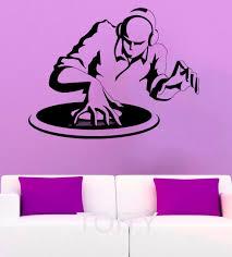 online get cheap dj wall stickers aliexpress com alibaba group cool dj wall sticker disc jockey vinyl decal pop music art bar interior teen bedroom home